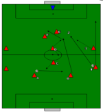 Hoog druk zetten voetbal